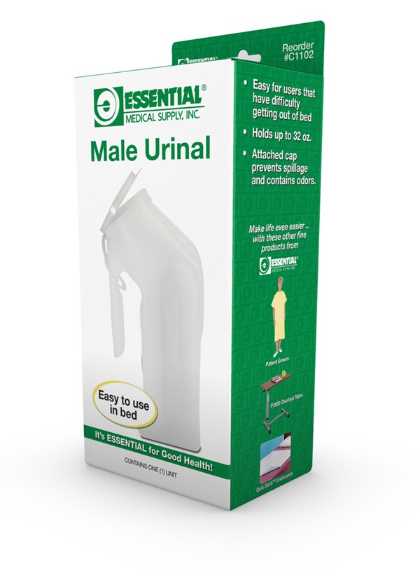 Essential© Male Urinal w/Cover #C1102