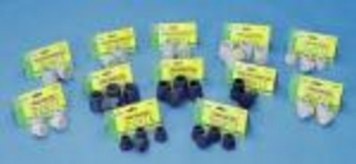 "T40118BL Essential Walker/Commode Tips 1 1/8"" - Black #21"