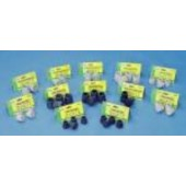 """T40100G Essential Walker/Commode Tips 1"""" - Gray #20"""